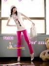 SKINNYฮิตฮอตแฟชั่นเกาหลีเก๋สุดๆPB202 ClassicSkinny กางเกงสกินนี่ Skinny ผ้ายืดเนื้อหนา ผ้านิ่ม รุ่นนี้ทรงสวยใส่สบาย ไม่มีไม่ได้แล้ว สีชมพู XXXL