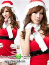 ชุดซานตาครอสสาวสีแดง