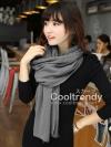 ผ้าพันคอไหมพรม ผ้า cashmere scarf size 180x30 cm - สี gray