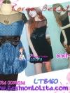 อก 40-46 สาวอวบห้ามพลาด! LTB160 :สไตล์สาวเกาหลี สาวอวบสวยได้ด้วยเสื้อตัวยาว/แซกสั้นทรงบอลลูนด้านบนเป็นผ้าโปร่งเก๋ด้วยโบใหญ่น่ารักมาก ลายดอกสวยมาก B