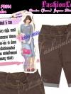 ไซส์34 เอาใจสาวอวบ #สกินนี่เอวสูงที่กำลังฮิต# PB894 HighwaistJeanSkinnyกางเกงสกินนี่ 5 ส่วนเอวสูงเก็บหน้าท้องดีสวยยีนส์ฟอกผ้ายืดญี่ปุ่น สีน้ำตาล