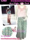 # กางเกงกระโปรง/กางเกงขาบานสไตล์สาวชมพู่ PB169 WidePants กางเกงขาบานผ้าชีฟองเนื้อดีพริ้วสวยลายดอก ทรงสวย แบบลงแมกาซีน ฟรีไซส์ Gr สำเนา