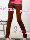SKINNYฮิตฮอตแฟชั่นเกาหลีเก๋สุดๆ PB448 ClassicSkinny กางเกงสกินนี่ Skinny ผ้ายืดเนื้อหนา ผ้านิ่ม รุ่นนี้ทรงสวย ใส่สบาย ไม่มีไม่ได้แล้วสีน้ำตาลXXL
