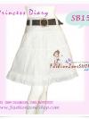 พร้อมเข็มขัดเก๋ ถอดแยกใส่ได้ แบบCop FLYNOW SB151 Scent Skirt  กระโปรงย้วยระบายชั้นเจ้าหญิง ทรงสวย ผ้าคอนตอน สีขาวสวยน่ารักมากมาย