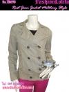 แฟชั่นสตรีทชิค TB690:Denim Blazer:เสื้อเบลเซอร์ยีนส์เดนิมสีสนิมฟอก ปกเก๋ กระดุมสองแถว งานก๊อปH&M