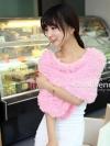 ผ้าพันคอแฟชั่น Magic Scarf - ผ้าพันคอแปลงร่าง เนื้อผ้าไลคราสี Light Pink