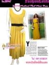 [มีีสีโอลด์โรสกับมัสตาร์ด] มาแล้วเทรนด์แรงกับ Maxi Dress : DB947 ใหม่! ชุดแซก/แม๊กซี่เดรสสีพื้นเก๋แบบแบรนด์ZARA ผ้าชีฟองช่วงล่างอัดพลีทเล็ก Mustard