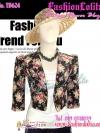 สไตล์Morgan TB624:Vintage Blazer:เสื้อคลุมวินเทจไหล่ตั้ง ลายดอกไม้ ผ้าเนื้อดีทำให้มีทรง ดีไซน์สวย