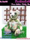 Bear101  ตุ๊กตาหมีผ้าคอตตอน100% ตุ๊กตาหมีนั่งได้ ยืนได้ขยับขาเปลี่ยนอิริยาบทได้ งานแฮนเมด ขนาด 10 - 12 นิ้ว เหมาะเป็นของขวัญให้กับคนพิเศษ