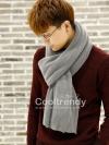 ผ้าพันคอผู้ชาย Man scarf ผ้า cashmere 180x30 cm - สี Gray