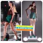 A-455 New Arrival Set Vickteerut Sequin Top & Green Shorts In Metropolis S/S 2013