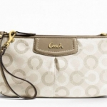 Coach Ashely Dotted Op Art Large Wristlet # 48053