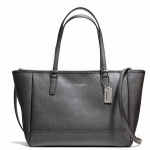Coach Crossbody City Tote In Saffiano Leather # 23578 สี Gunmetal