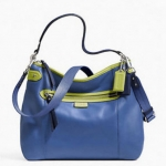 Coach Daisy Spectator Leather Convertible Hobo # 23903 สี Moonlight blue multi
