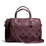 COACH TAYLOR OP ART SATEEN SATCHEL # 25503 สี Bordeaux