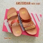 **พร้อมส่ง** FitFlop AMSTERDAM With Studs : Dark Tan : Size US 7 / EU 38
