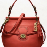 Coach LEATHER NEW WILLIS # 19132 สี BRASS / VERMILLION
