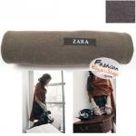 ผ้าพันคอแฟชั่นเกาหลีสีพื้น ZARA BROWN : สีน้ำตาล CK0145