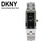Authentic New DKNY NY4610 Silver SS Quartz with Black Dial Ladies Watch