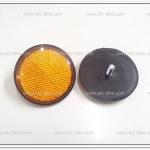 ทับทิมสะท้อนแสงสีเหลือง ทรงกลม (คู่ละ)