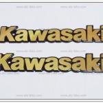 โลโก้ KAWASAKI สีทอง 18cm.x3cm. (2ชิ้น)