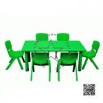 2SPO-1008B โต๊ะสี่เหลี่ยมผืนผ้าพร้อมเก้าอี้ 6 ตัว
