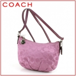 Coach Signature Lurex Pleated Swing Pack # 44744 สี SV/Rose