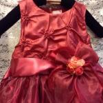 ชุดออกงานเด็กหญิงสีแดงเลือดหมู
