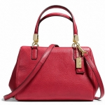 COACH MADISON MINI SATCHEL IN LEATHER # 49720 สี BRASS /SCARLET