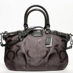 Promotion ลูกค้าเก่า !! COACH NEW OP ART MADISON SOPHIA SATCHEL # 18619  Silver/FLINT