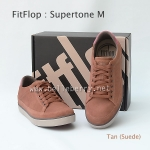 รองเท้า FitFlop Men's Supertone M : Tan (Suede) Size US 9 / EU 42