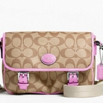 Coach Peyton Field Bag # 48759 สี KHAKI PINK