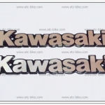 โลโก้ KAWASAKI สีเงิน 18cm.x3cm. (2ชิ้น/ชุด)