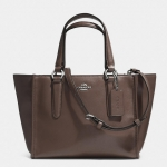 Coach Crosby Mini Carryall in Smooth Leather # 33537 สี Silver/Mink Brown