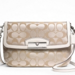 COACH KRISTIN SIGNATURE SATEEN FLAP CROSSBODY # 48983