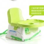 เก้าอี้นั่งทานข้าวเด็ก Babyhood สีเขียว