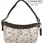 Coach Ashley 3 Color Metallic Signature E/W Duffle # 20264