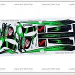 สติ๊กเกอร์ KSR-KITACO ติดรถสีเขียว