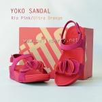 **พร้อมส่ง** รองเท้า FitFlop YOKO SANDAL : Rio Pink / Ultra Orange : Size US 7 / EU 38