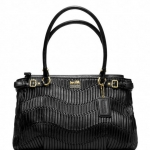 COACH MADISON GATHERED LEATHER KARA CARRYALL # 22325 สี BRASS /BLACK
