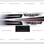 สติ๊กเกอร์ GTO ปี 2004 ติดรถสีเงิน