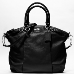 COACH MADISON LEATHER LINDSEY SATCHEL #18641 SV/Black