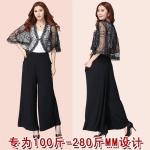 กางเกงผ้าคอตตอนยืดขายาว เอวยืด สีดำ 3XL 4XL 5XL
