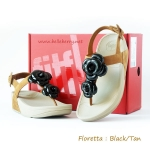 **พร้อมส่ง**FitFlop Floretta : Black/Tan : Size US 7 / EU 38