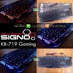 "USB Multi Keyboard ""SIGNO"" (KB-719) Black ( ปรับไฟได้ 3 สี )"