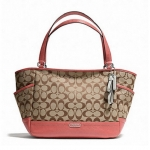 Coach Park Signature Carrie Tote # 23297