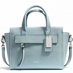 COACH BLEECKER MINI RILEY CARRYALL IN SAFFIANO LEATHER # 30146 สี EGG BLUE