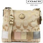 COACH Signature Stripe Multi Stripe File Bag # 19209
