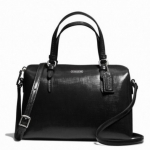 Coach Peyton Patent Leather Bennett Mini Satchel # 50059 สี Silver/black