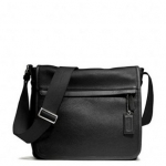 COACH MEN'S CAMDEN LEATHER MAP BAG # 70973 สี BLACK